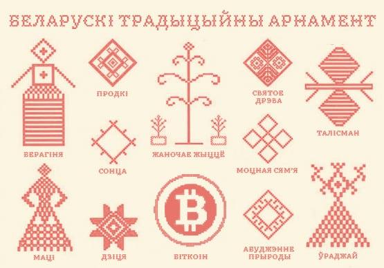белорусские орнаменты с биткоином