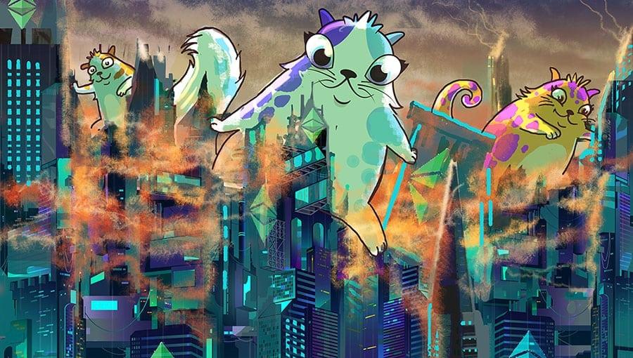 CryptoKitties Godzilla