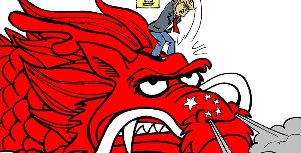 Биткоин падает вследствие торговой войны Китая и США