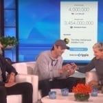 Эштон Кутчер пожертвовал Эллен Дедженерес XRP на сумму $4 млн в эфире телешоу