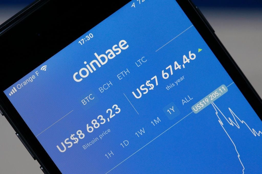 Coinbase security-токенов