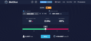 BetDice стало самым популярным приложением EOS