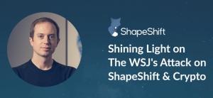 ShapeShift ответила на публикацию WSJ об отмывании денег встречной критикой