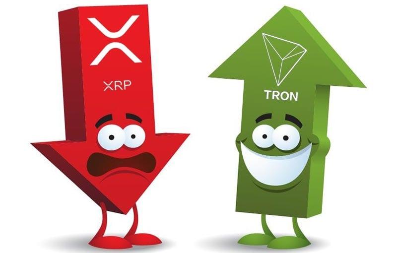 У биткоина застой, TRON растет. У XRP - коррекция