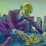 Gollum with bitcoins