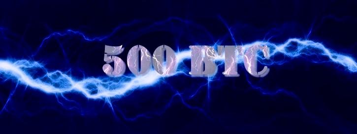 Пропускная способность сети Lightning Network превысила 500 биткоинов