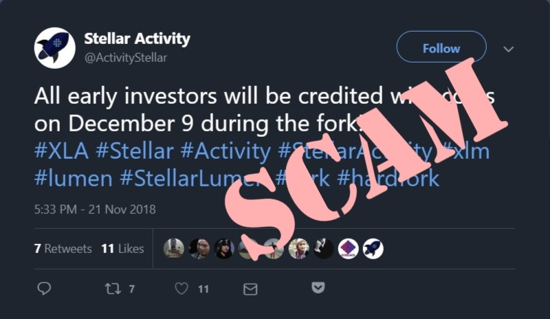 Хардфорк Stellar Activity – откровенный скам, - Stellar