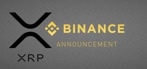 XRP подрос на новостях от Binance, сделавшей его одной из базовых монет