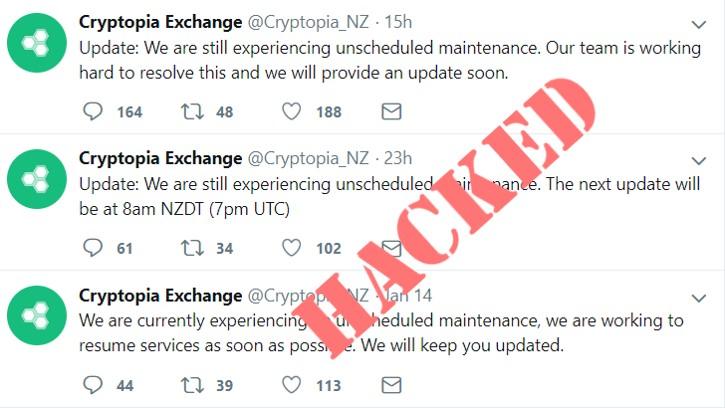 Новозеландская биржа Cryptopia приостановила работу из-за взлома, ущерб выясняется